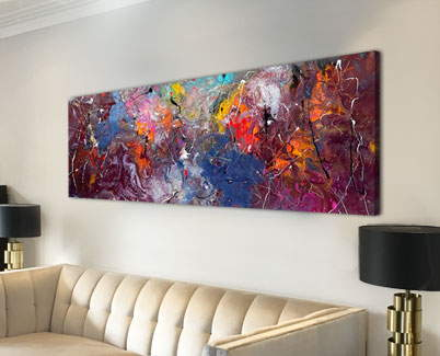 rectangular modern art painting