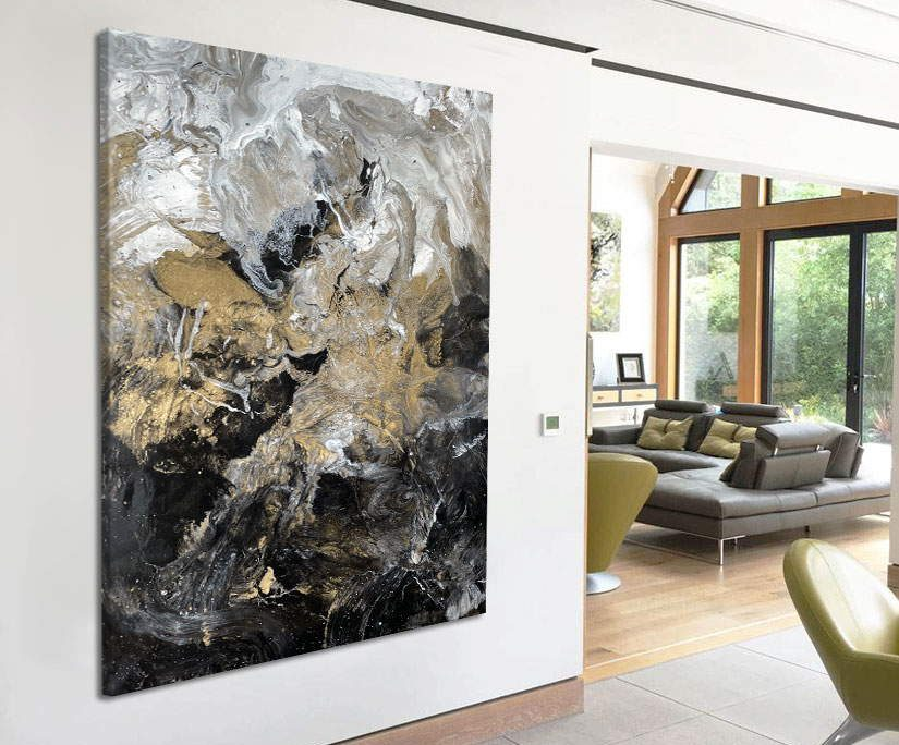 Proteus gold and black painting by Swarez