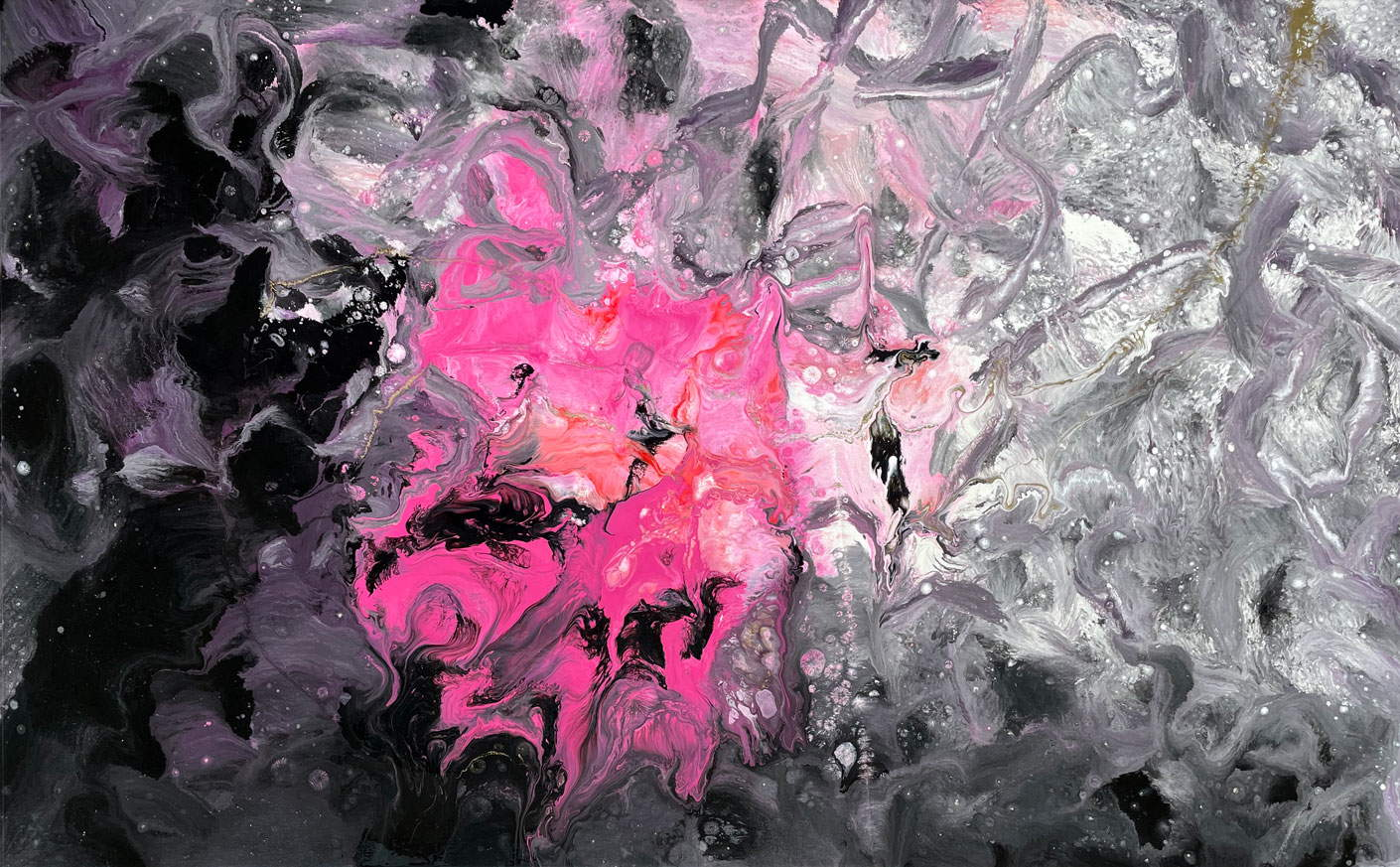 pink and black art