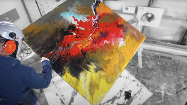 spin table painting