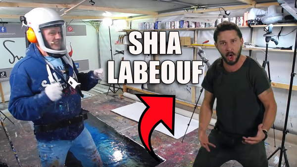 Live painting with Shia Labeouf