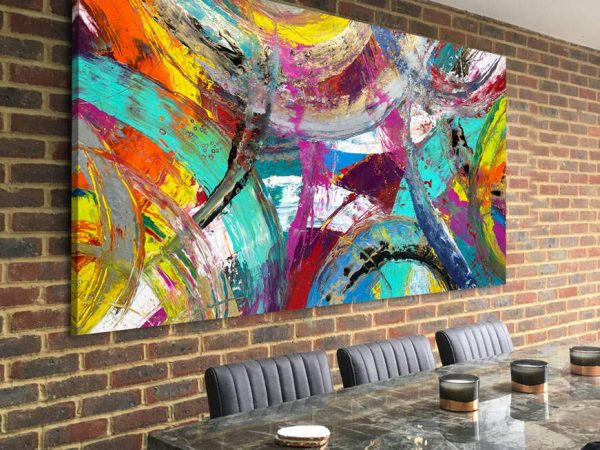 big painting for a large interior brick feature wall