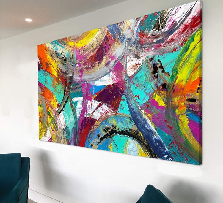 very large abstract with multi colours