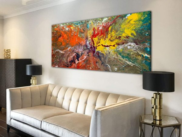 abstract painting called Where The Wild Things Are by Swarez Art