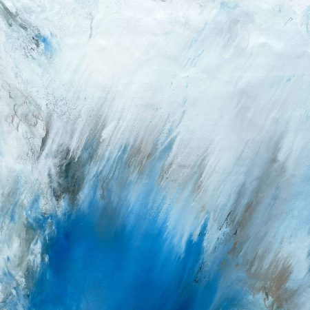 blue and white abstract art