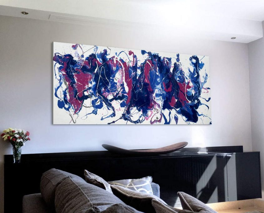 blue-and-pink-abstract-art-in-a-living-room
