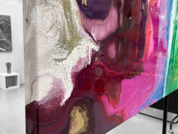 corner of colourful bright painting