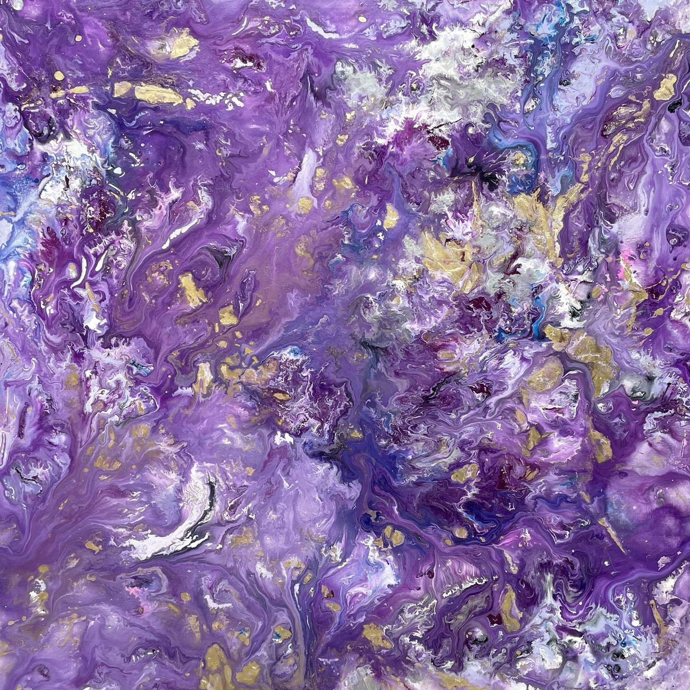 lilac and mauve abstract painting