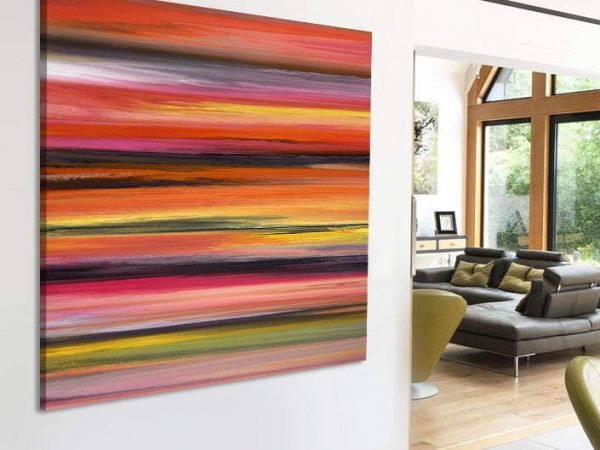 Tequila Sunrise contemporary painting by Swarez
