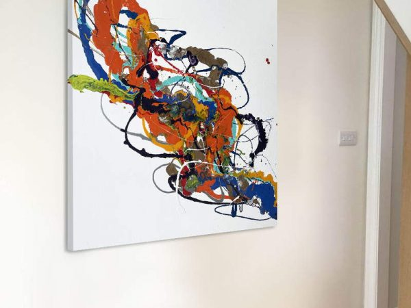 brightly coloured abstract painting