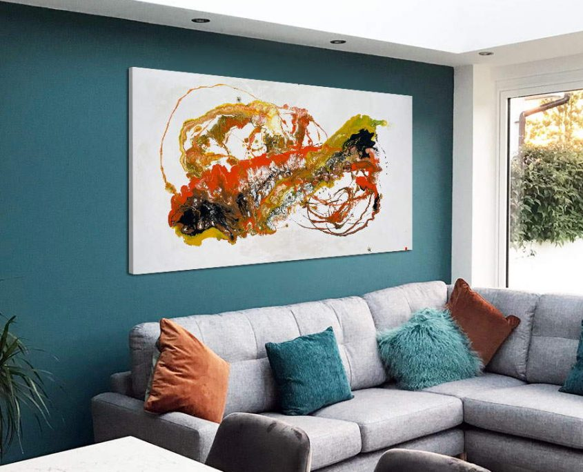 orange and yellow abstract art