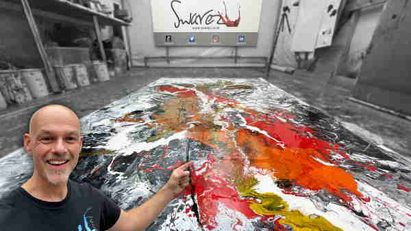 Giant abstract painting
