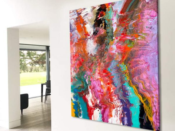 giant colourful painting